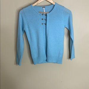 Free People light blue cardigan wool